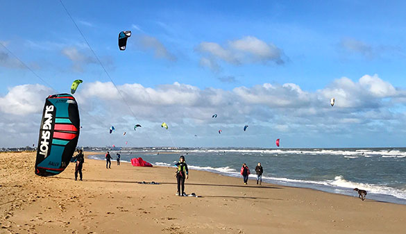 Kitesurf à Merville Franceville